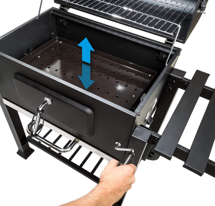 TecTake Barbacoa Barbecue Grill carbón bandeja ajustable