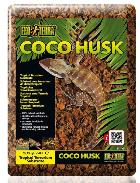 Sustrato terrarios cáscara de coco
