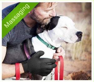 tuoding 2PCS Guantes de Masaje para Perros/Gatos